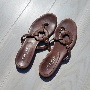 St John Brown Leather Flip Flop sandals